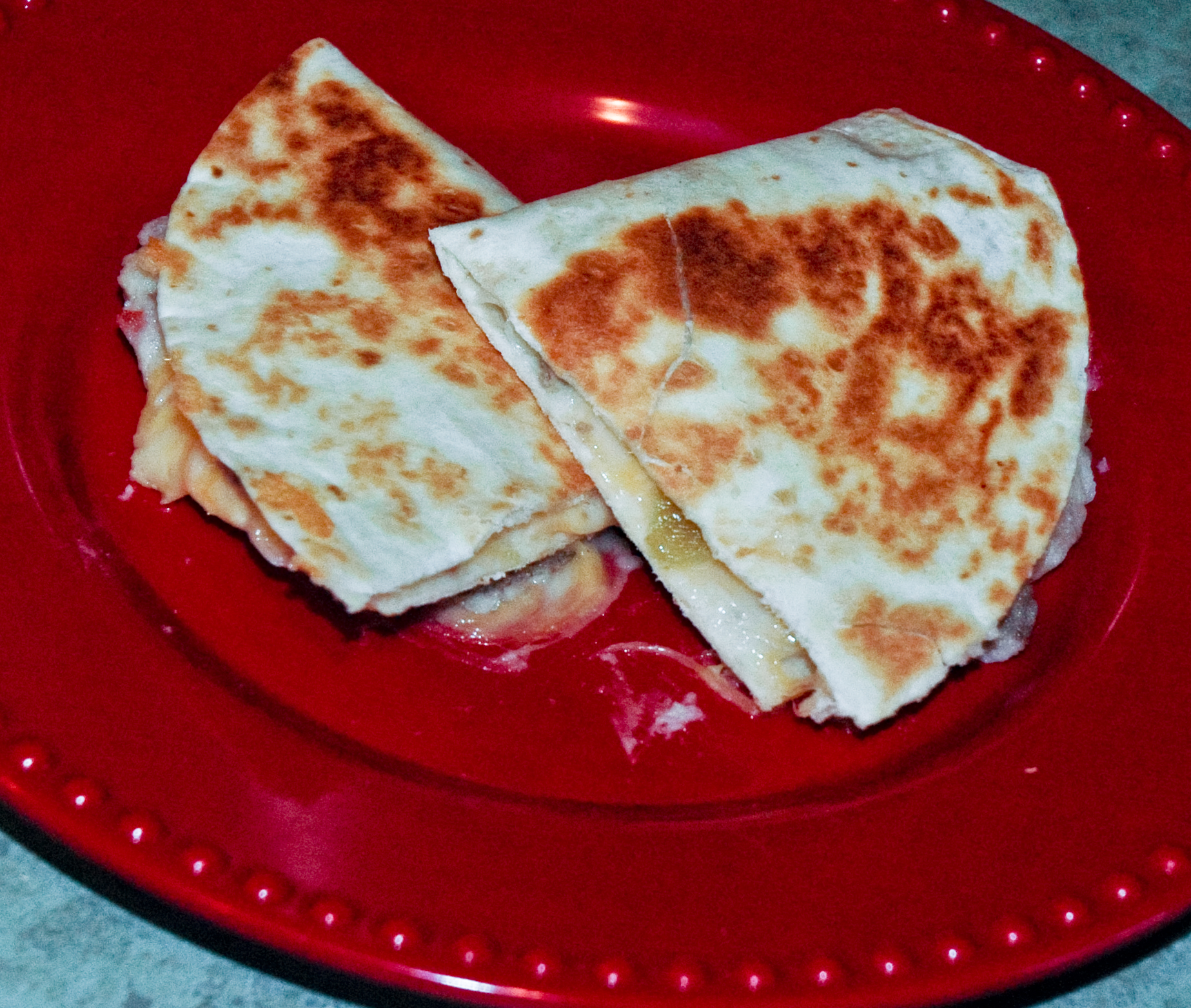 Idahoan Potato and Sausage Quesadillas