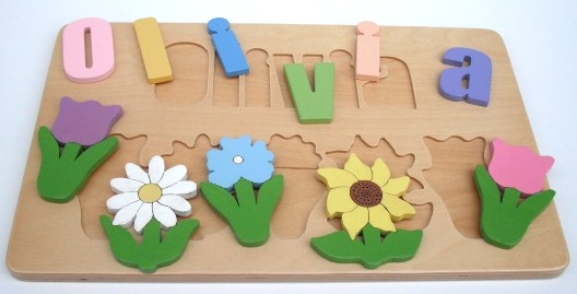 TLC Woodcrafters Spring Flowers Name Puzzle Giveaway!