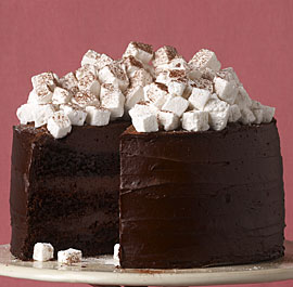 chocolate check out this hot chocolate cake with homemade marshmallows