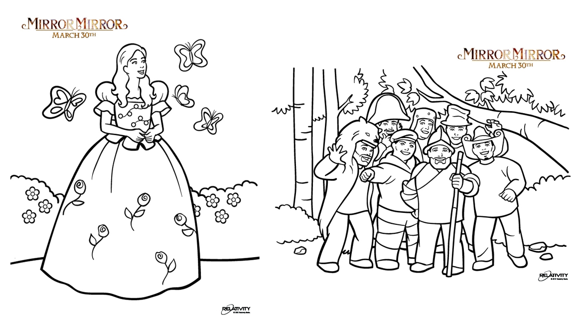 coloring pages mirror - photo#38
