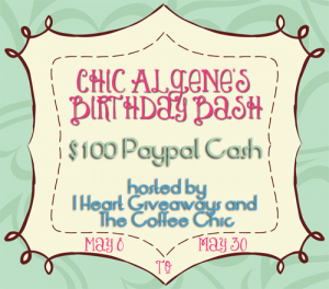 Chic Algene's Birthday Bash Sign-up!