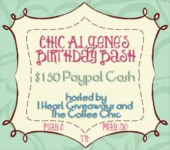Chic Algene Birthday Bash Giveaway!!