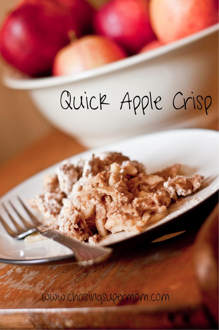 Quick Apple Crisp