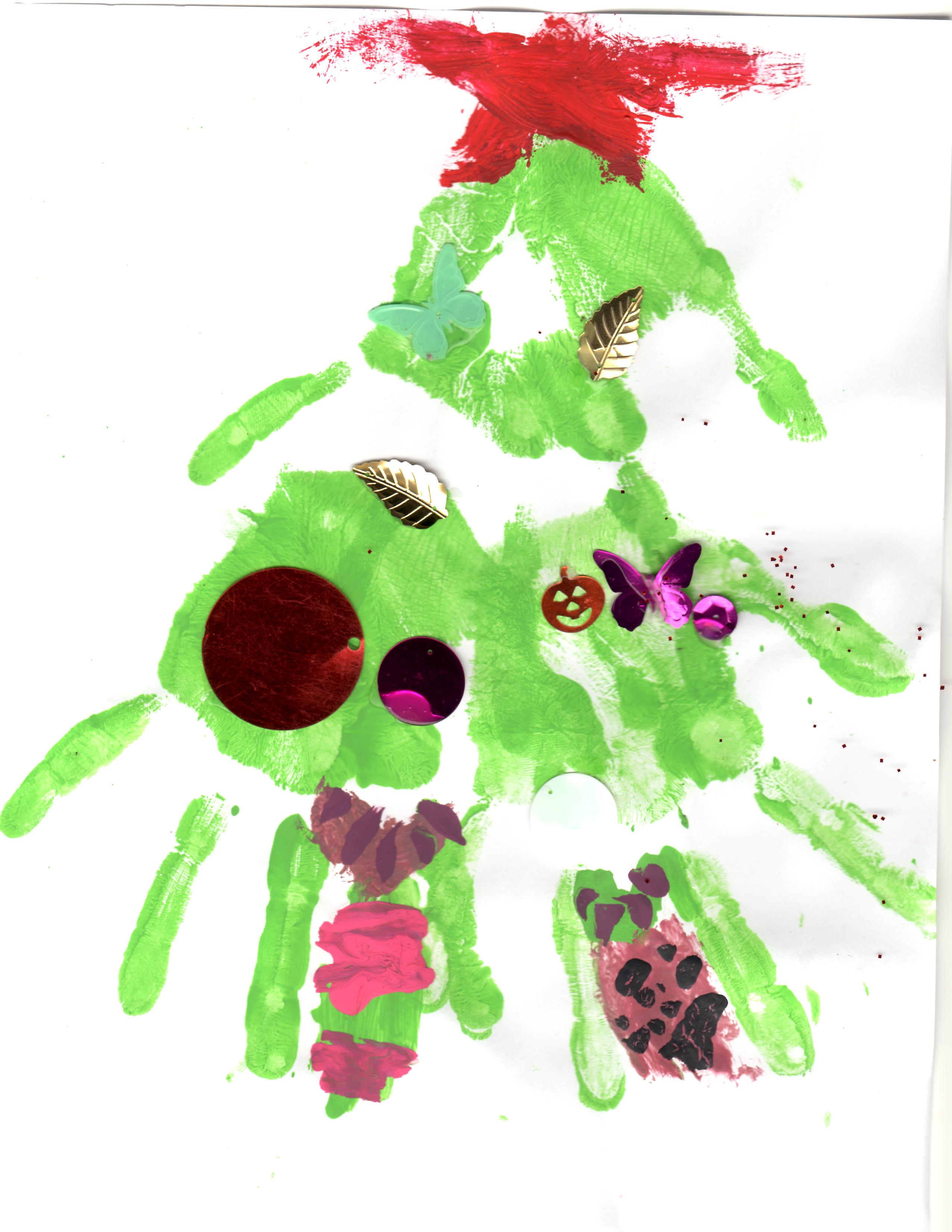 Christmas Hand-print Crafts