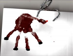 Hand-print Reindeer