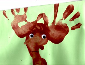 Hand and Foot-print Reindeer