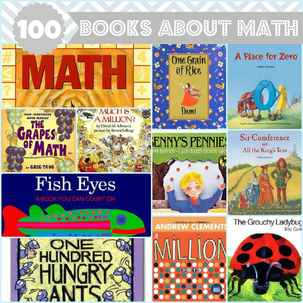 100 Books About Math For Kids | Chasing Supermom