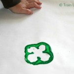 Bell Pepper Shamrocks - Simple craft for kids! (11)