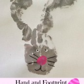 Hand and Footprint Easter Bunny Craft