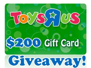 $200 Toys R Us Gift Card OR $200 Cash via Paypal Giveaway!