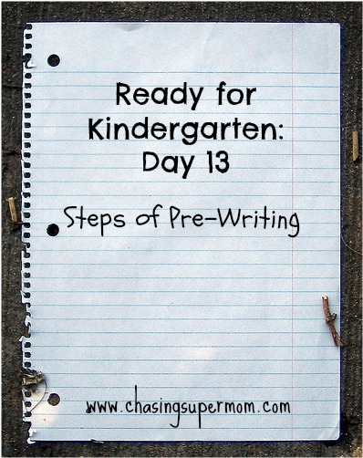 Ready for Kindergarten Day Thirteen: Steps of Pre-Writing