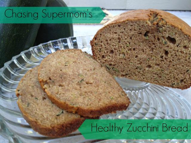 Chasing Supermom's Healthy Zucchini Bread