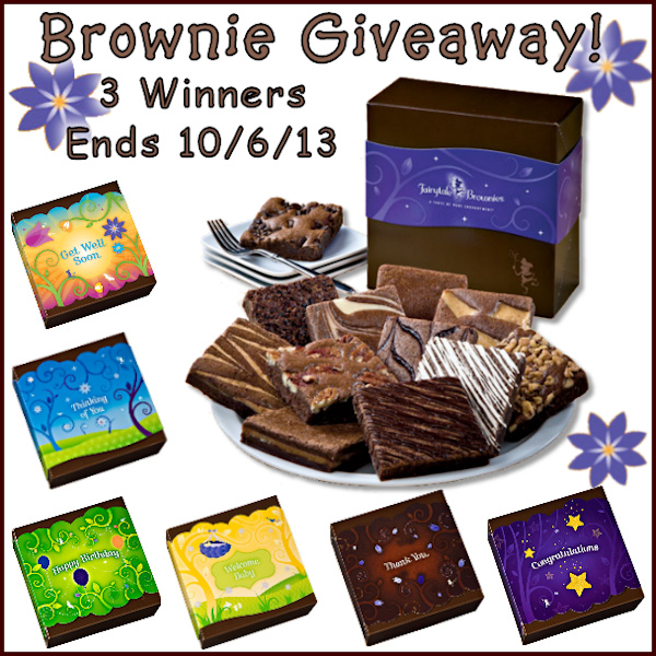 Gourmet Brownie Box Giveaway – 3 Winners!