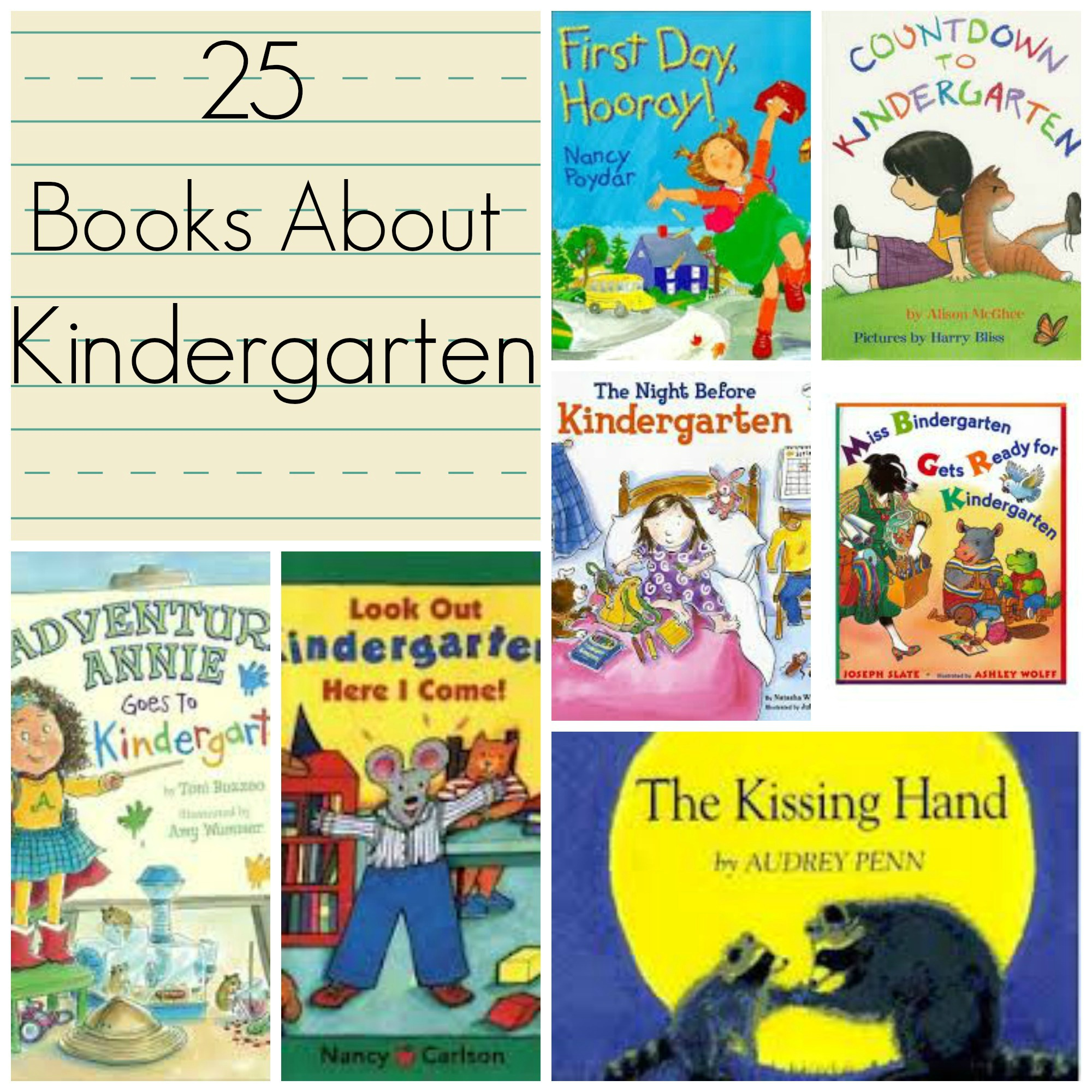 25 Books About Kindergarten