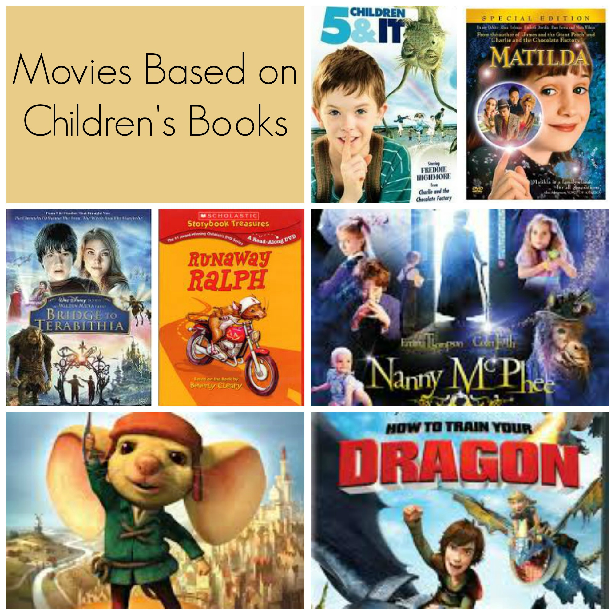 Movies Based on Children's Books – Big List of Literature Inspired Family Films