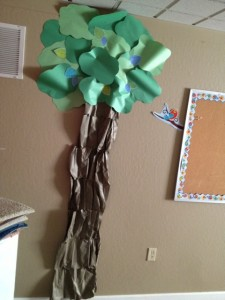 paper tree for classroom