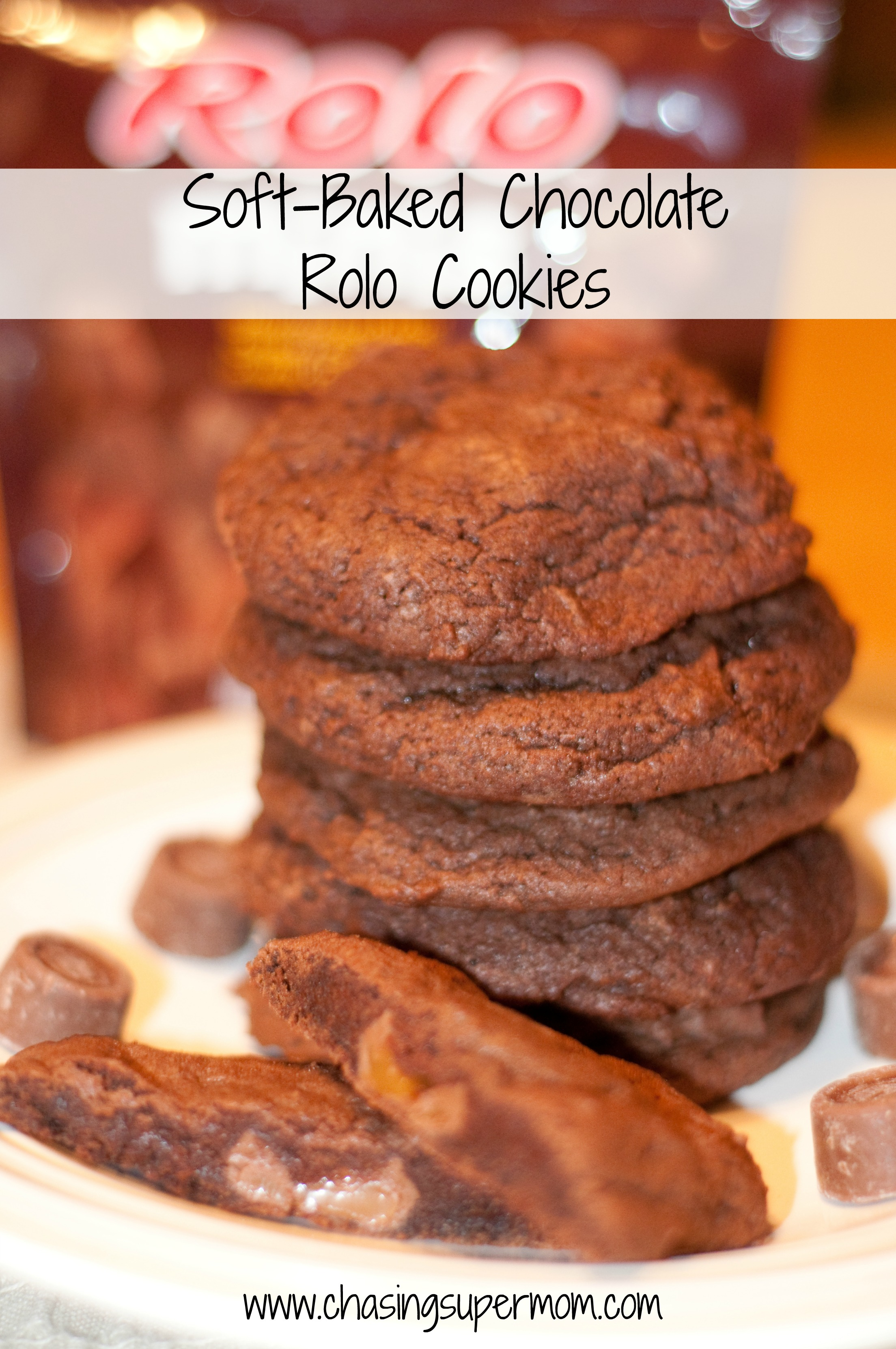 Soft-Baked Chocolate Rolo Cookies