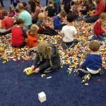 giant lego brick pile