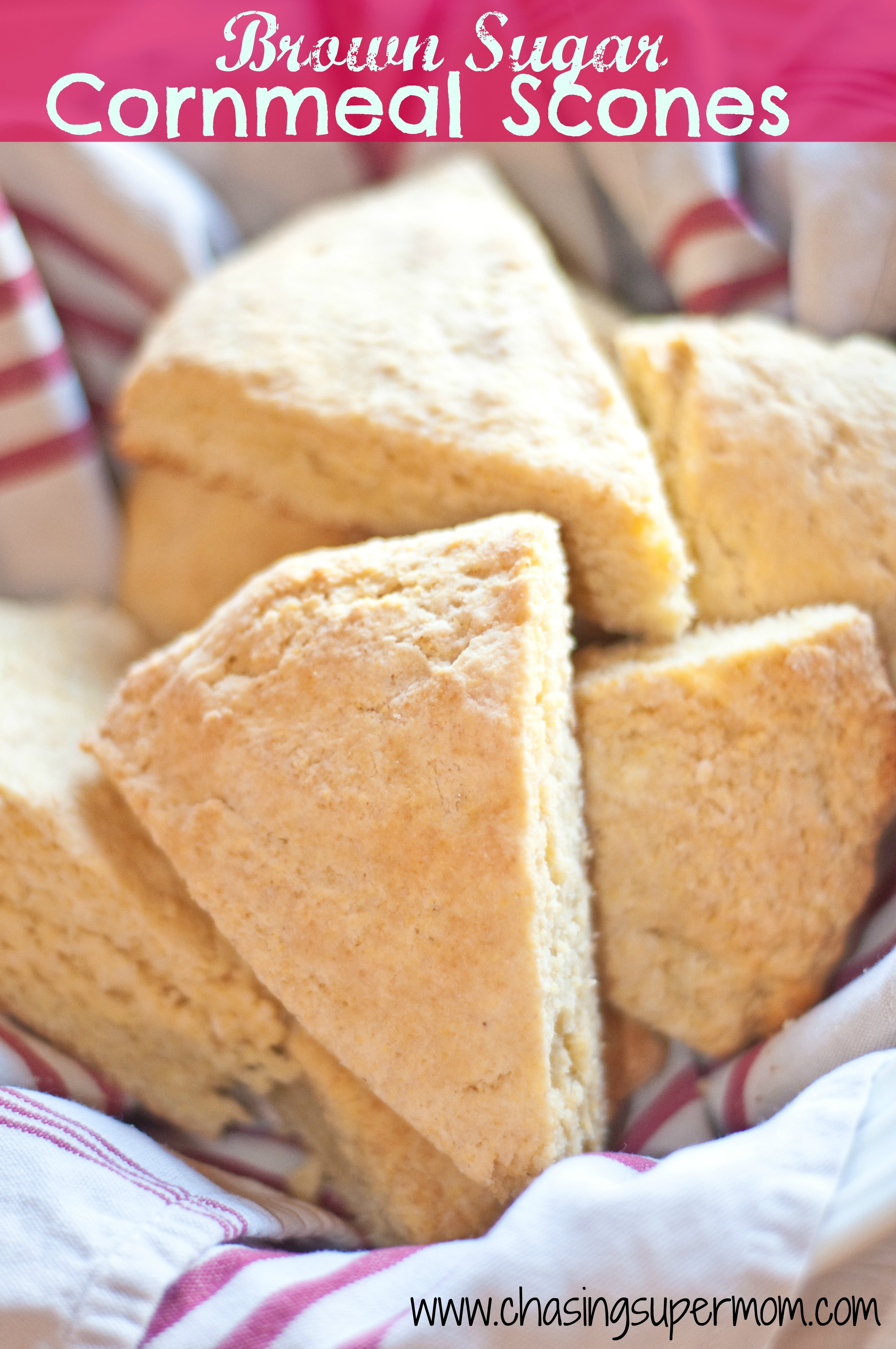 Brown Sugar Cornmeal Scones