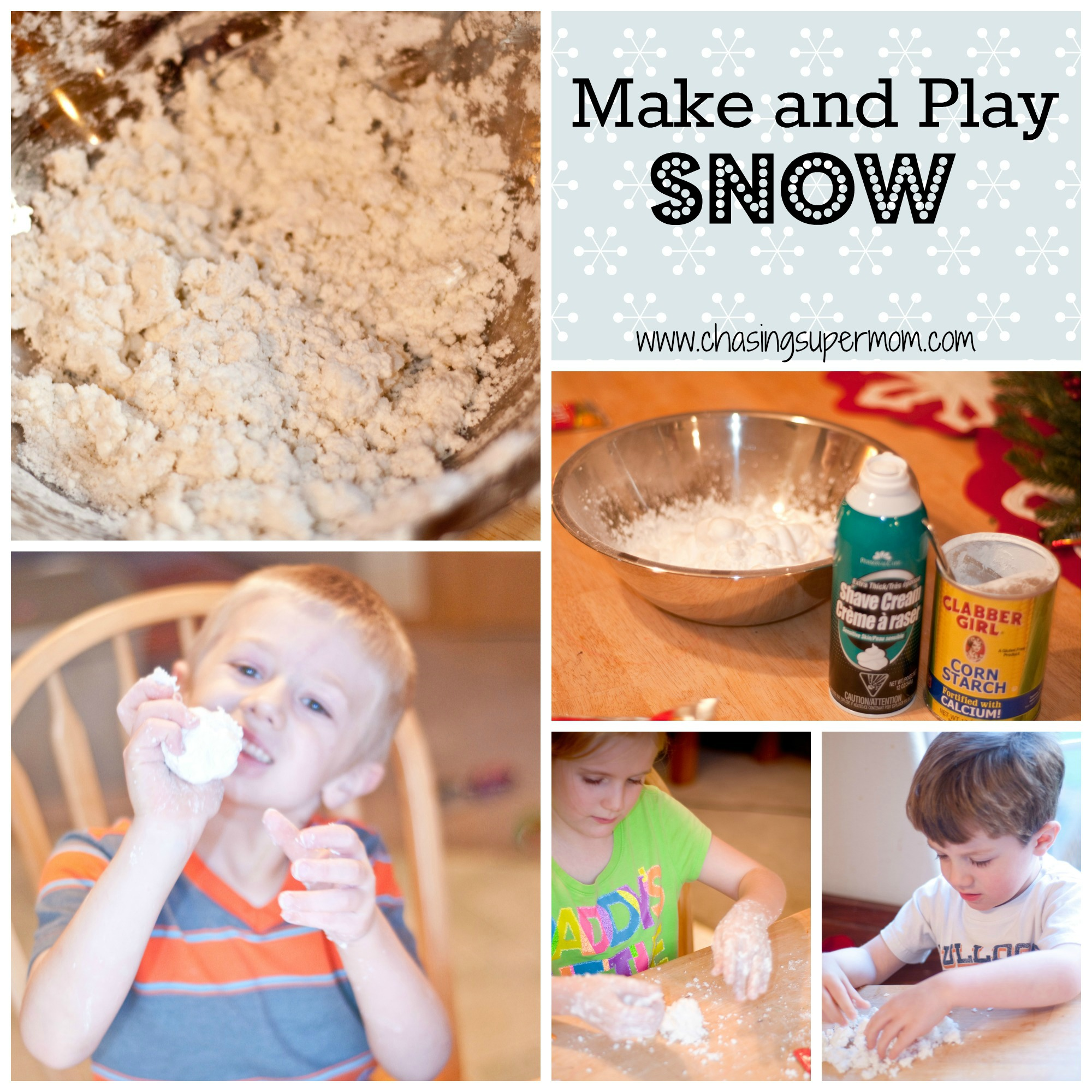 Make and Play Snow – Fun Winter Preschool Project