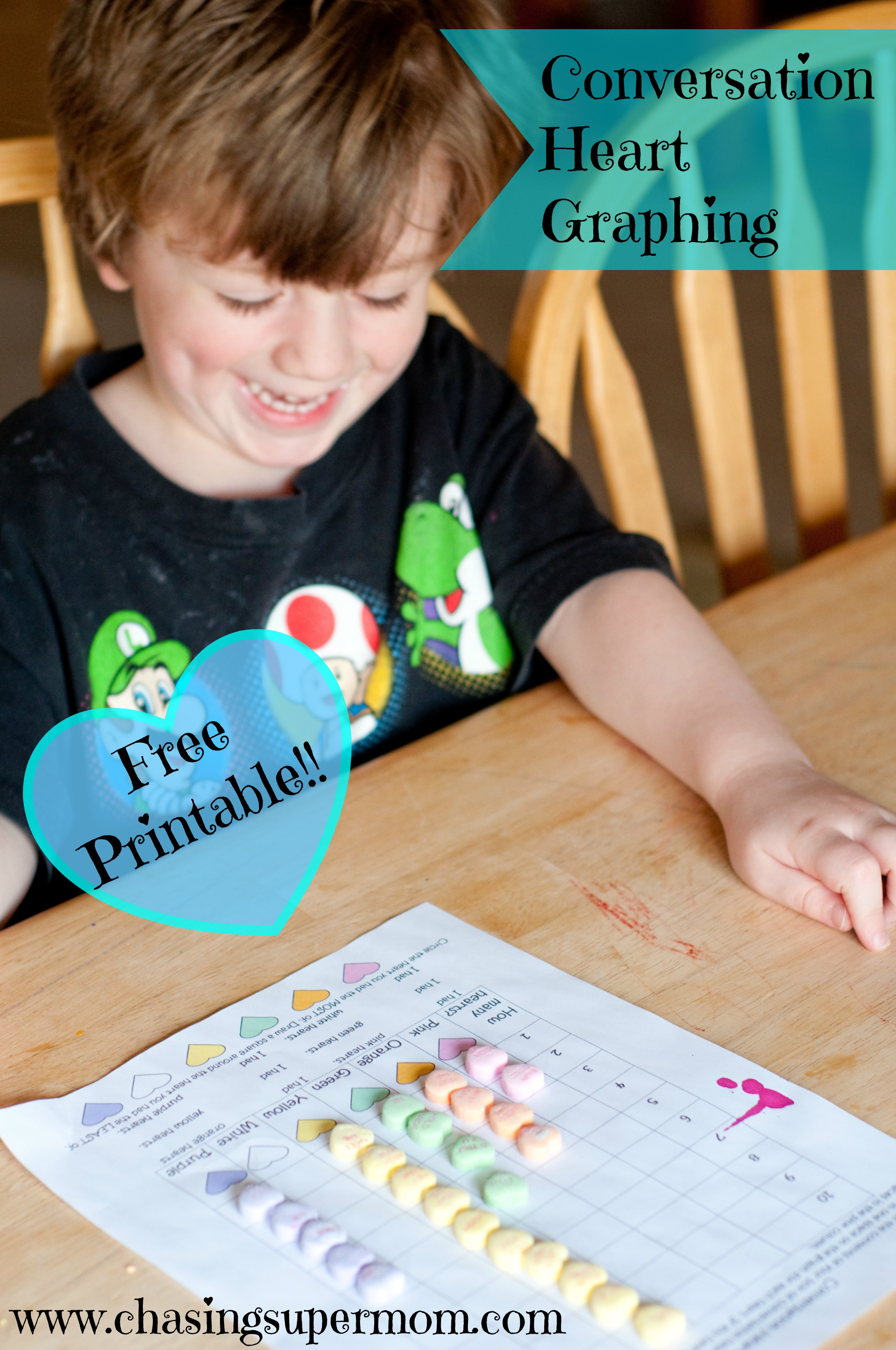 Conversation Hearts Graphing Worksheet – Free Valentine's Day Printable