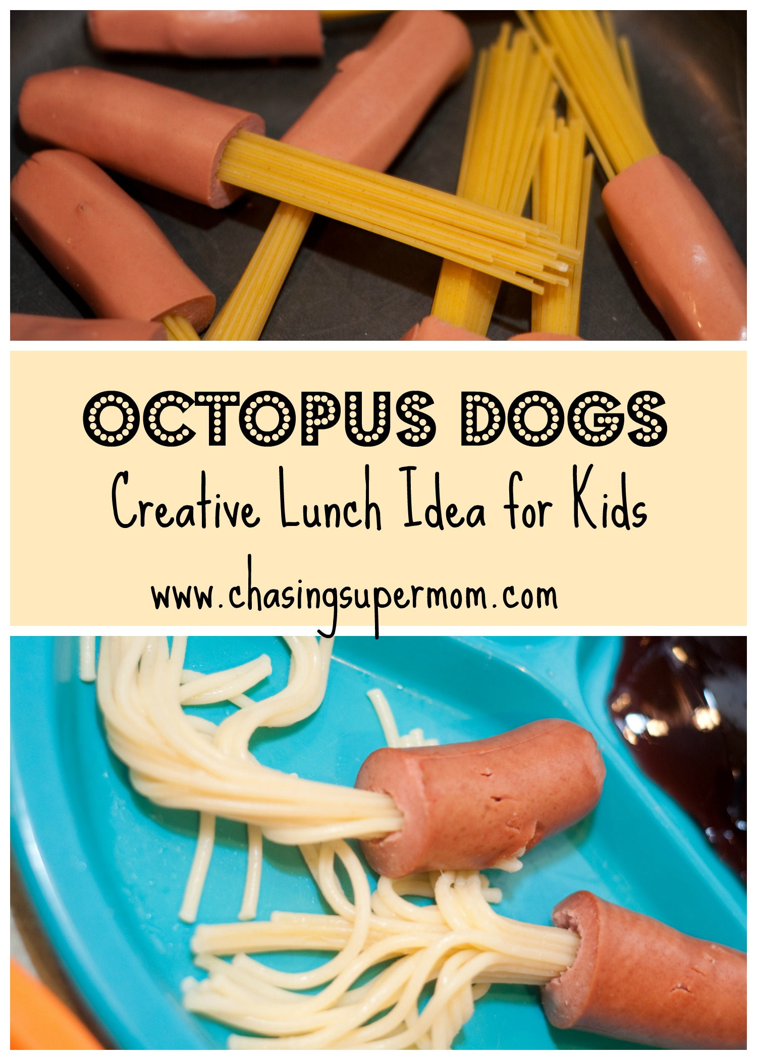 octopus dogs creative meal idea for kids chasing supermom