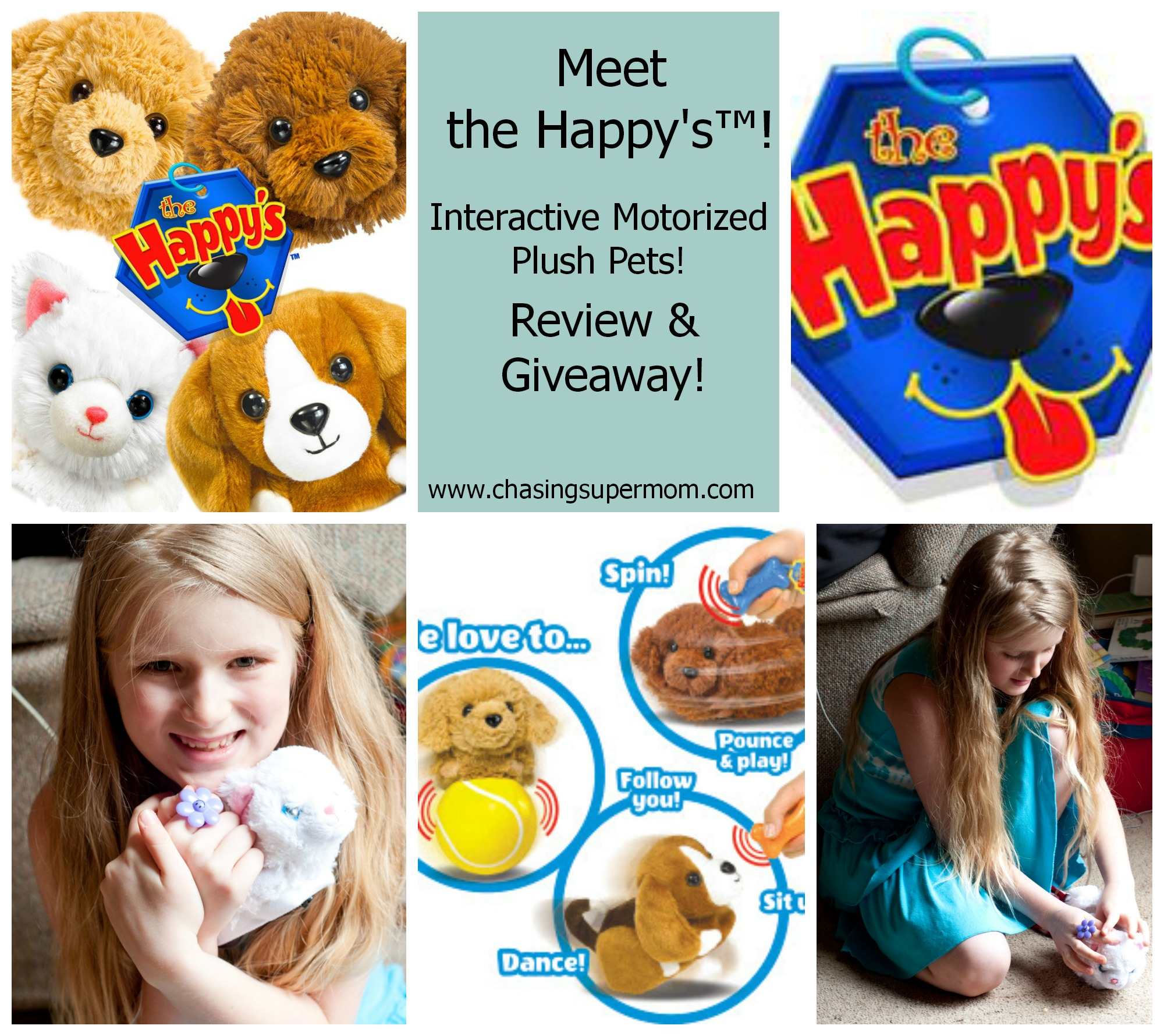 Meet The Happy's™ -Interactive Plush Pets – Review and Giveaway