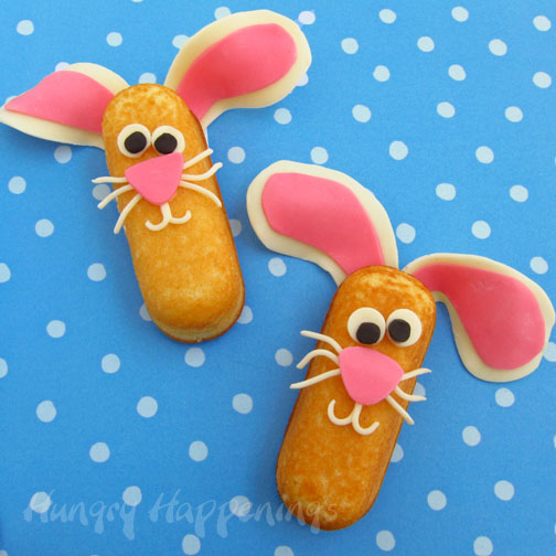 Hostess Twinkie Easter Bunny treats, Easter edible crafts, kids craft projects, fun food for kids, Easter basket treats 1 copy