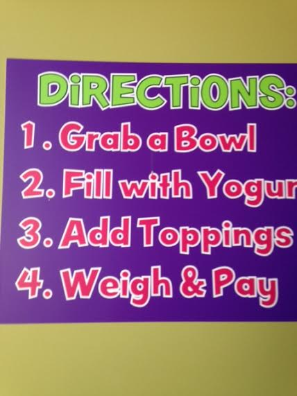 self serve yogurt instructions