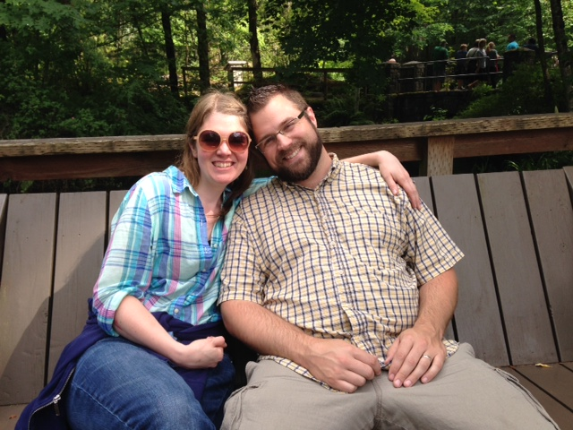 couple on Adirondack bench