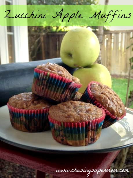 Zucchini Apple Muffins