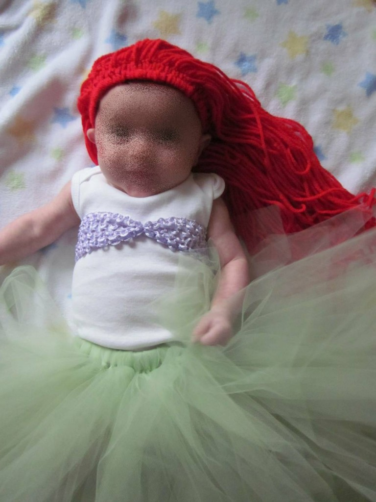 Diy disney halloween costume round up easy diy disney costumes diy ariel costume by the frugal flock ariel on 2 768x1024 solutioingenieria Image collections