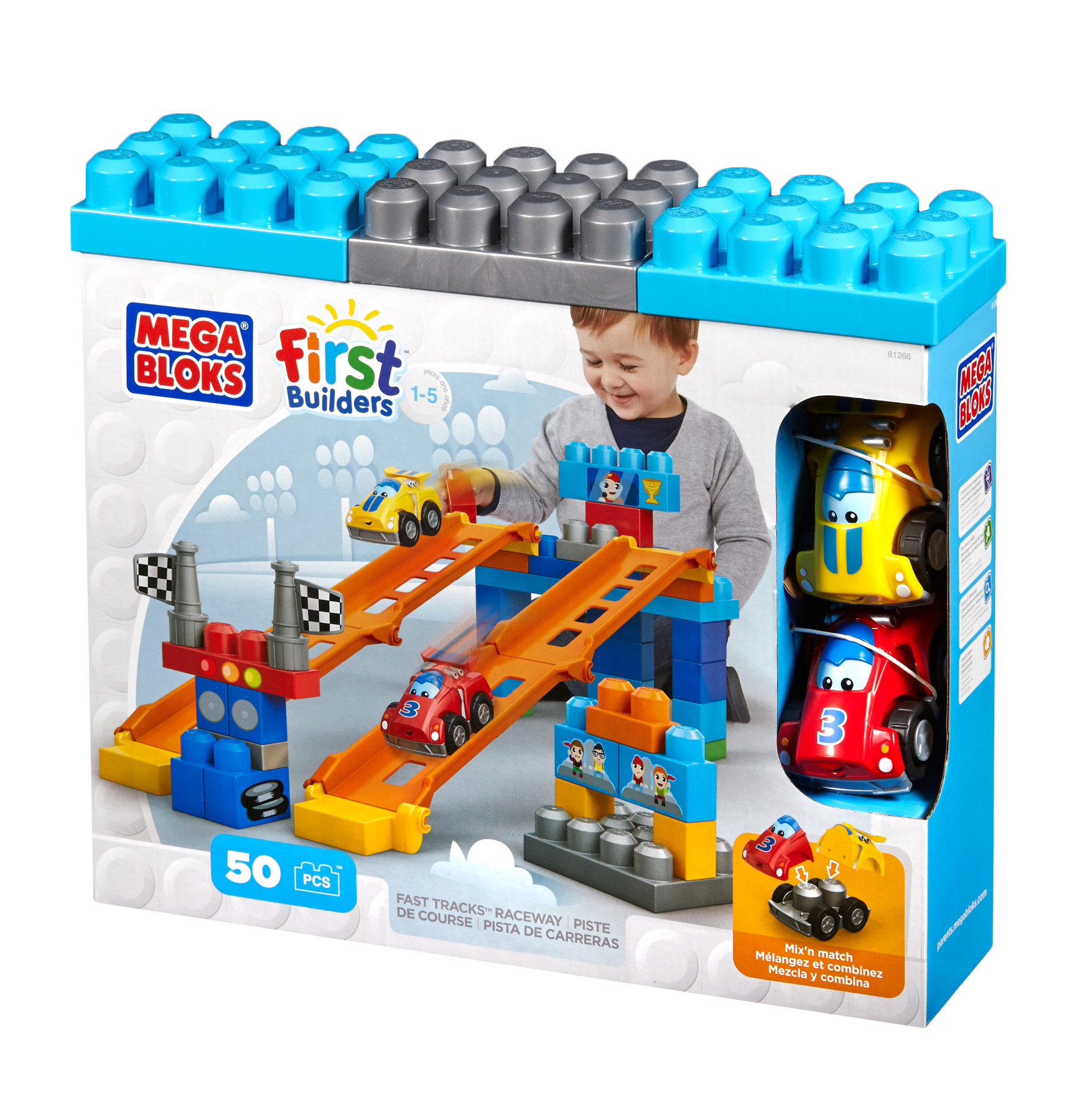 Mega Bloks First Builders™ Fast Tracks™ Raceway Review & Giveaway