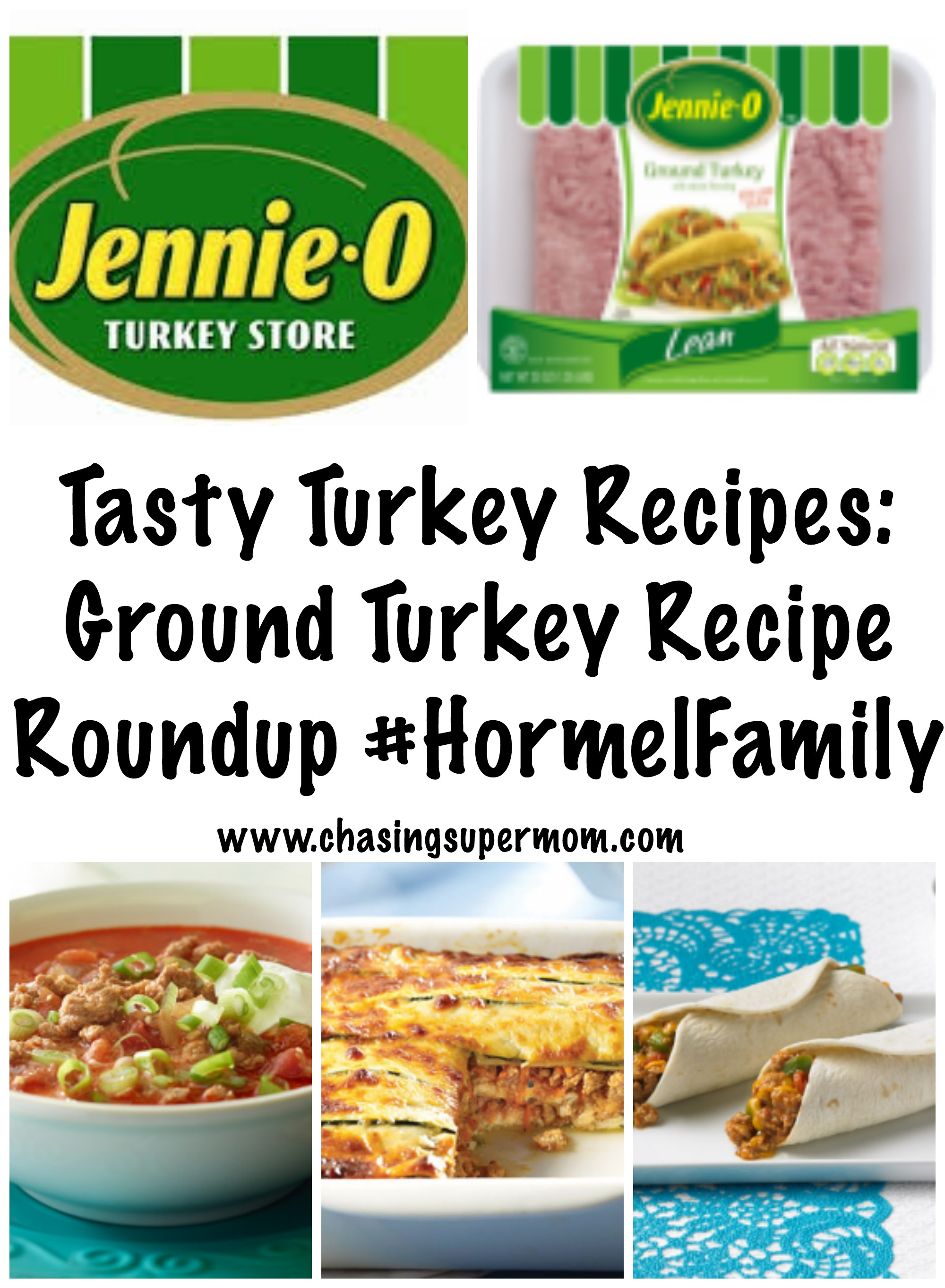 Tasty Turkey Recipes: Ground Turkey Recipe Roundup #HormelFamily
