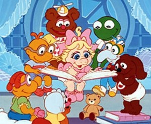 muppet babies, muppet babies cartoon, miss piggy, kermit, scooter