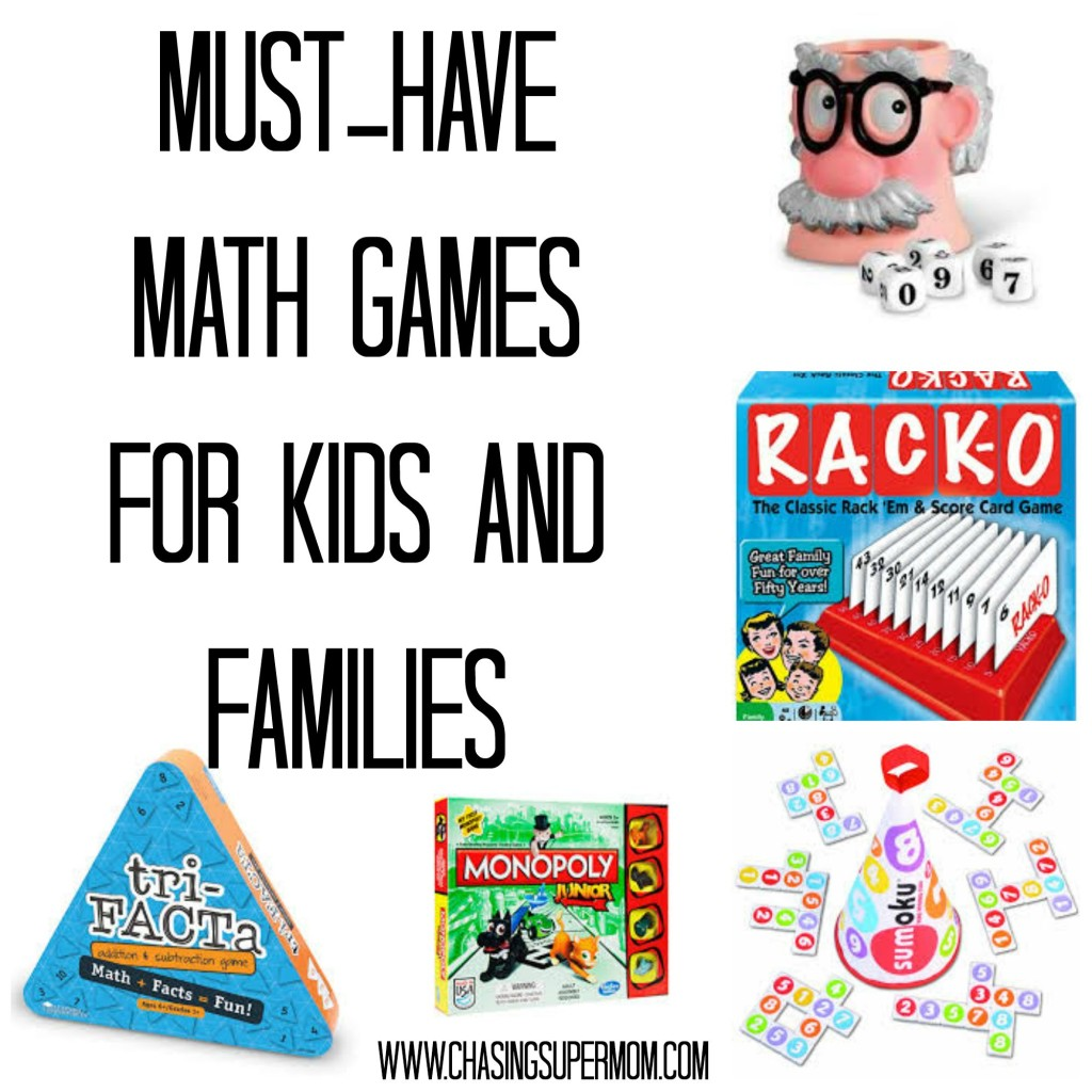 Math Games Collage