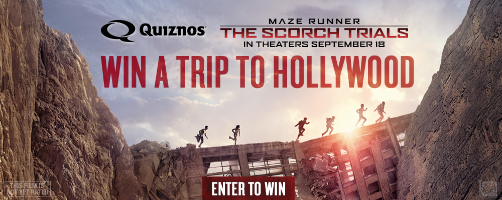 Quiznos Maze Runner Sweepstakes