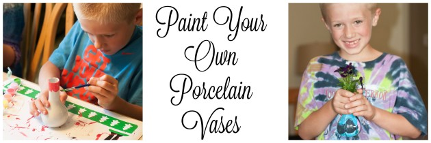 Paint Your Own Porcelain Vases -Creative Gift Idea for Kids