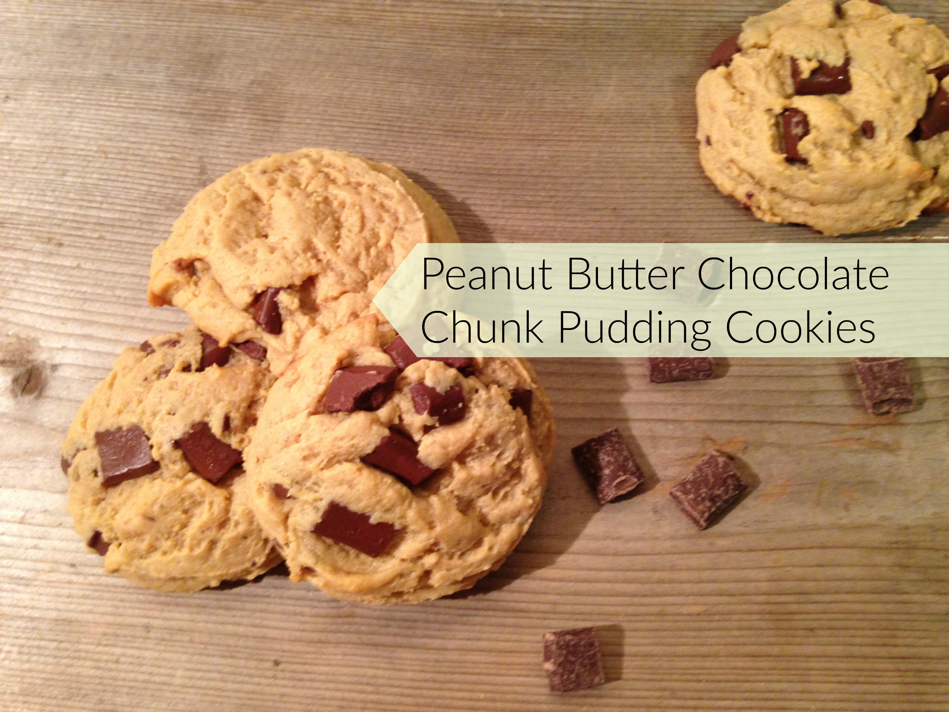 Chocolate Chunk Peanut Butter Pudding Cookies