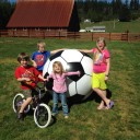 Giant Inflatable Soccer Ball from MindWare