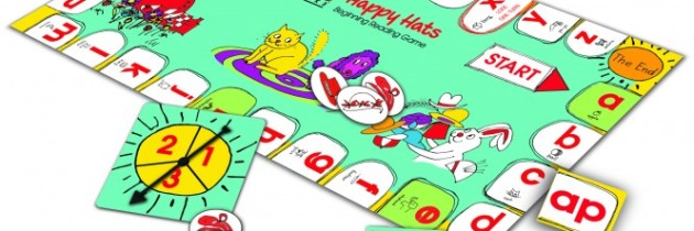 BOB Books Happy Hats Board Game – Reading Game For Kids