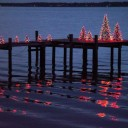 Simple and Beautiful Holiday Lighting: Crabpot Christmas Trees