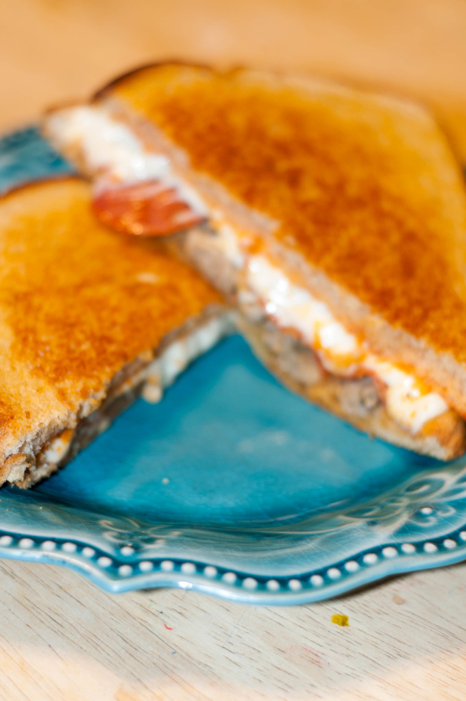 grilled cheese, pizza sandwich, pizza grilled cheese, fancy grilled cheese