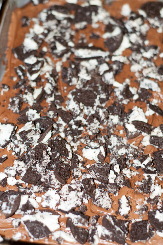 Kitchen sink brownies, oreo brownies, frosted oreo brownies