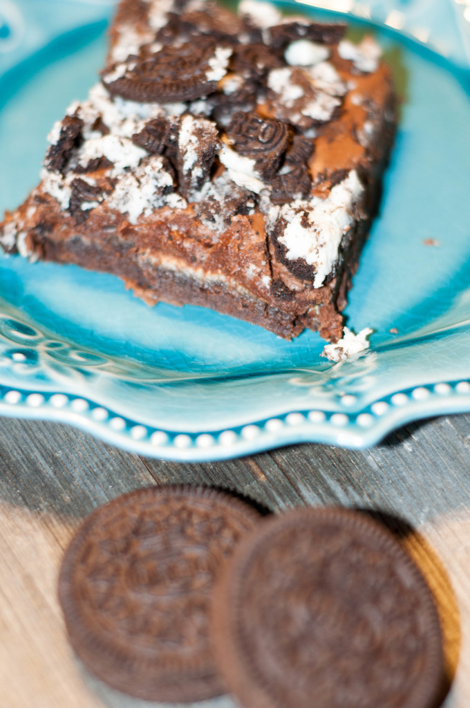 oreo brownie, marshmallow brownie, kitchen sink brownie