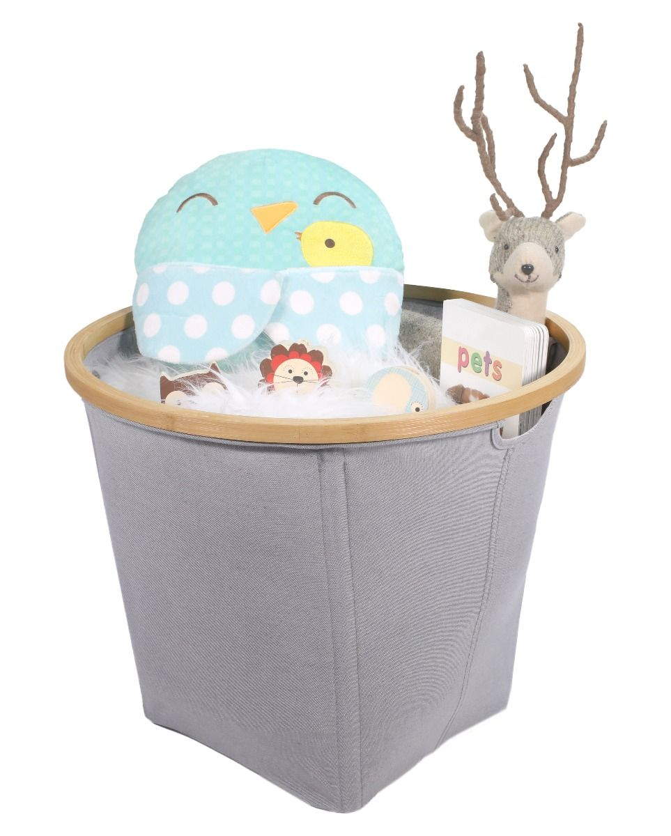fabric storage basket, toy basket