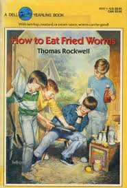 how to eat friend worms book cover, 90's book covers