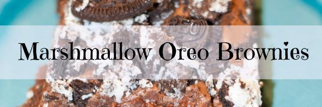 Marshmallow Oreo Brownies