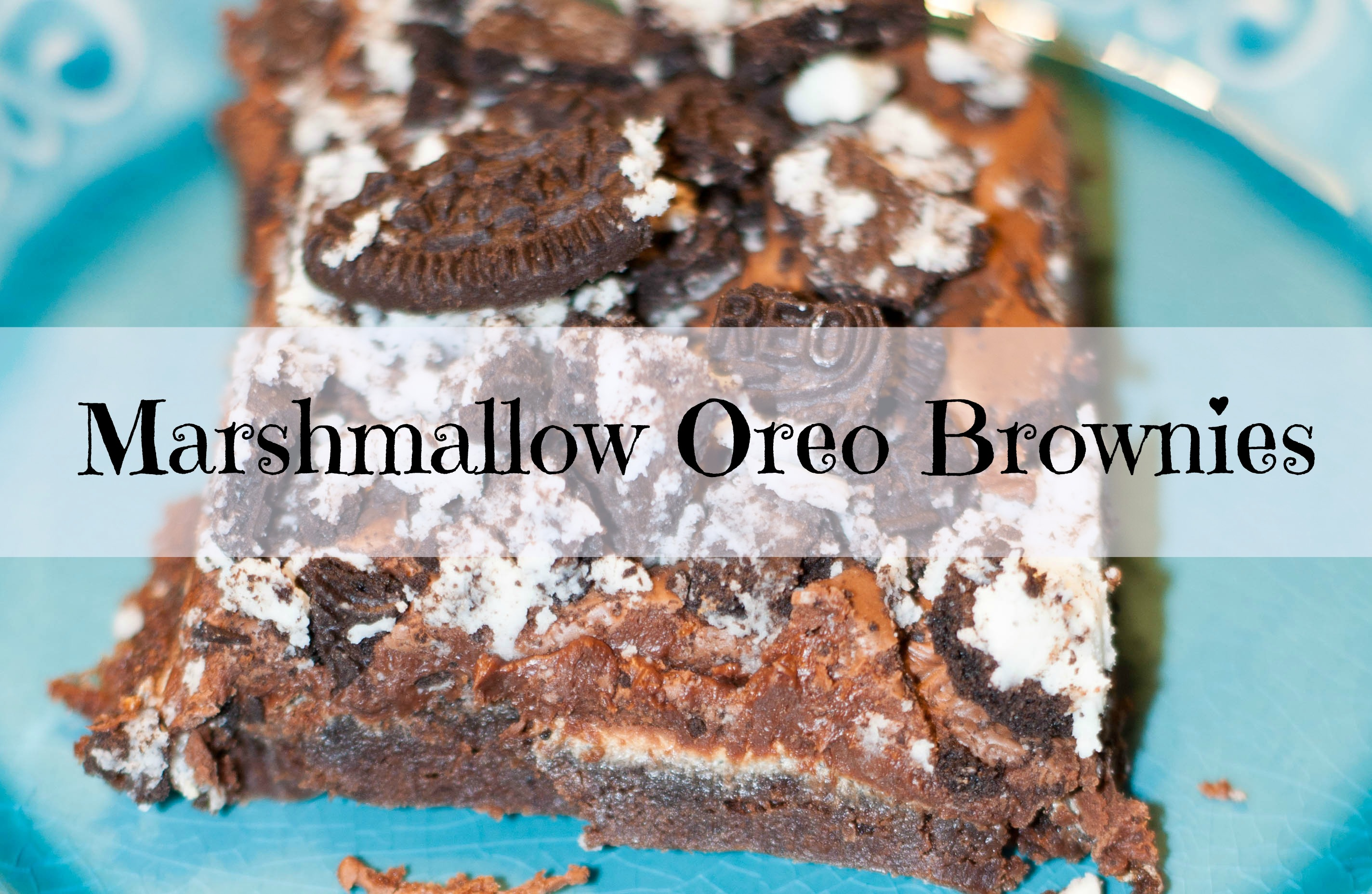 Marshmallow Oreo Brownies