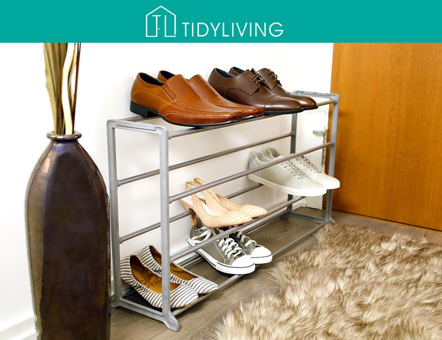 shoe rack, 20 pair shoe rack, tidy living shoe rack